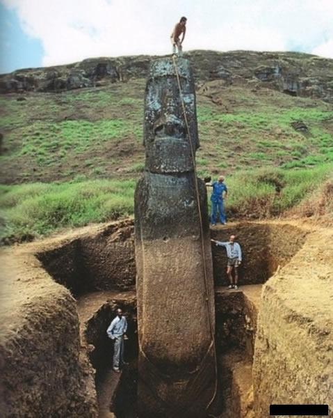 复活节岛巨石像竟穿性感小内裤?