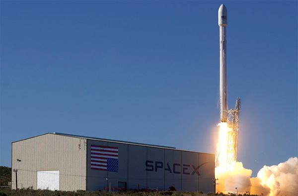 The upgraded SpaceX Falcon 9 lifts off on its demonstration flight in September