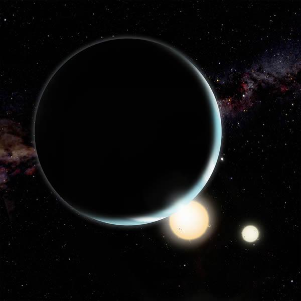 具有两个太阳的系外行星可能出生在距离恒星核心非常远的地方