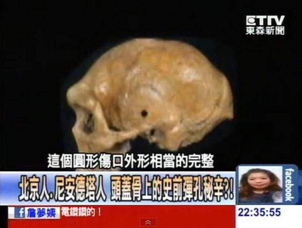 4万年前的枪伤?大英博物馆尼安德特人头骨发现神秘小洞