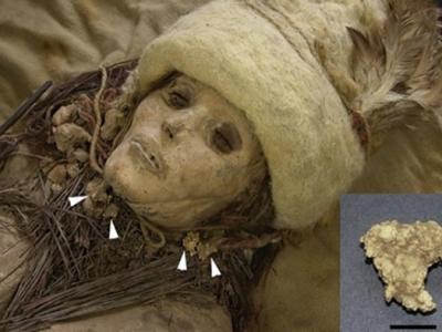 Cheese Chunks Adorn Ancient Mummies
