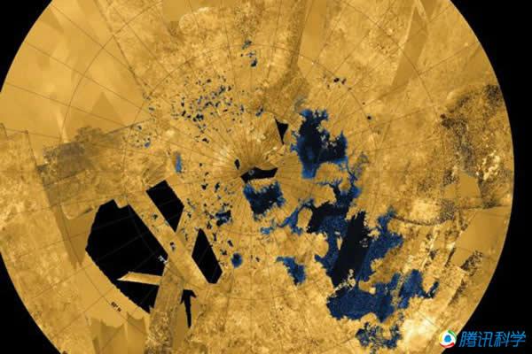 土卫六上存在大片的液态甲烷湖泊