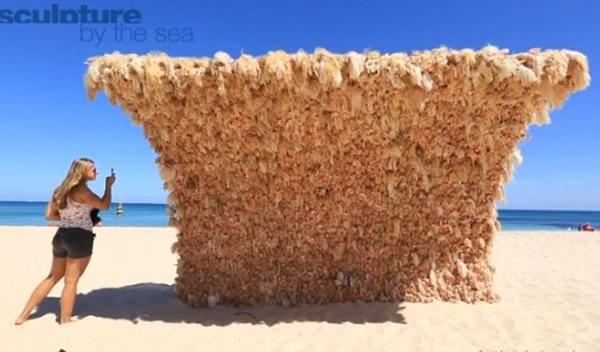 """澳洲海滩惊现""""芭比海浪"""""""