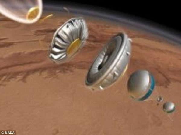 """美国宇航局最新研制一种""""飞碟""""太空降落伞"""
