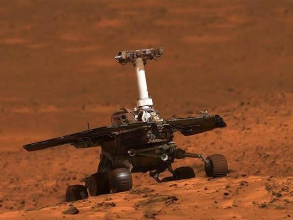 机遇号目前正在对奋进号陨坑的外缘地区进行考察