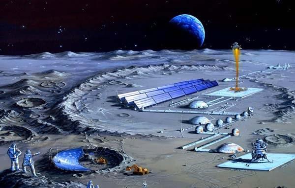 图为中国探月插图创意大赛中,描绘未来中国月球考察站的作品。