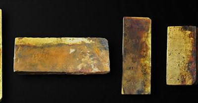 美国寻宝公司奥德赛海洋探索公司从海底古老沉船打捞出27公斤黄金