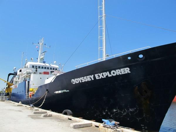 奥德赛海洋勘探公司的打捞船