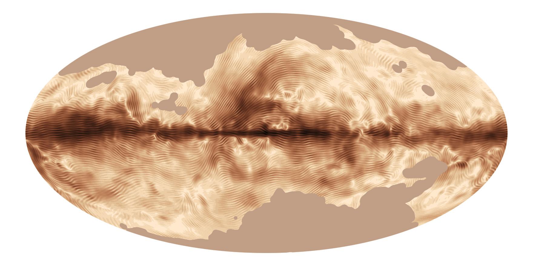 银河系的磁力线分布图