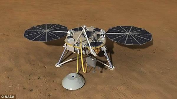 """""""洞察""""号将携带多国航天机构研制的各种仪器设备。德国和法国将帮助设计一台地震研究装置,用于测量在火星内部穿过的波,例如""""火震""""和流星撞击形成的波。"""