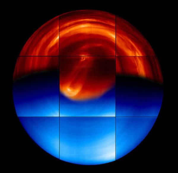 金星南半球图像,金星快车探测器拍摄。