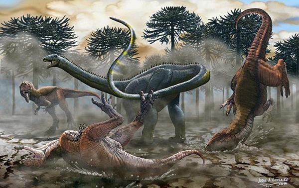 史上所发现的最大恐龙复原图
