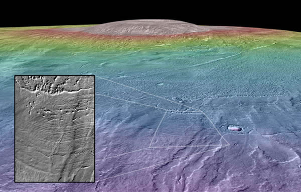 冰川冰原下的火山喷发可能为火星创造大量液态水