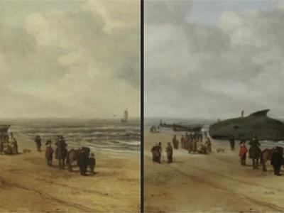 Beached Whale Hidden in 17th-Century Dutch Painting