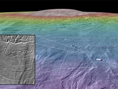 Could a Mars Volcano be an Oasis for Life?