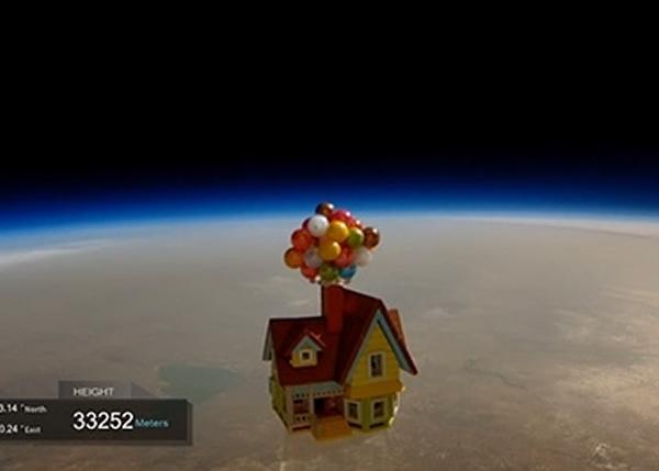 飞天屋飞上3万米高空