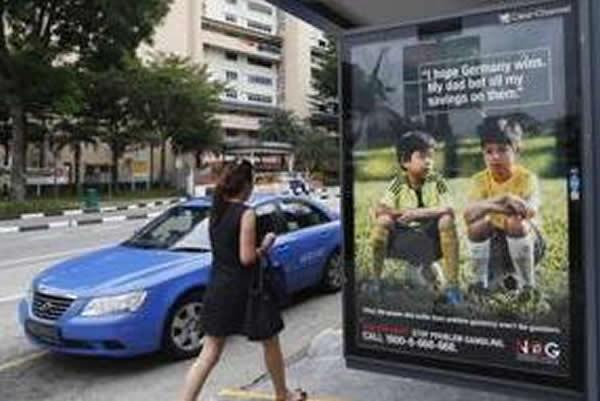 新加坡戒赌广告预言德国夺冠却弄巧成拙