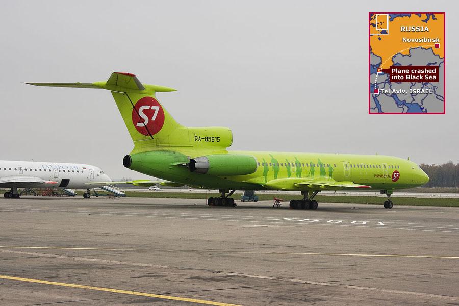 2001年10月4日,西伯利亚航空Flight 1812一架图154在克里米亚半岛附近被乌克兰的S-200地对空打下黑海,结果证实这架民航班机不幸闯入军演,被当