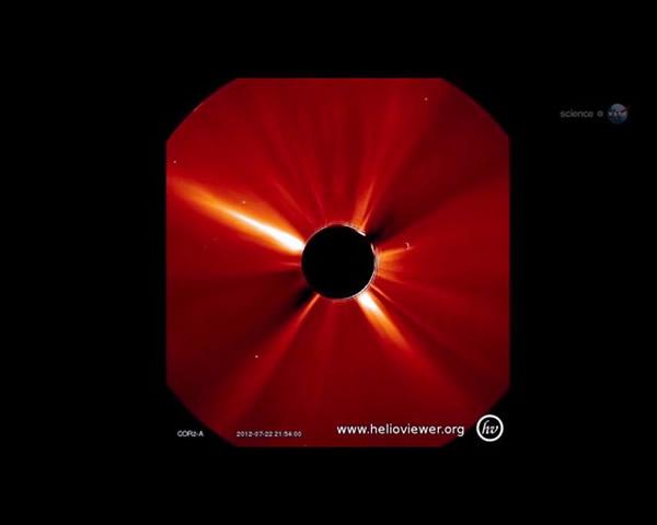2012年7月23日发生150年以来最强的太阳风暴差点重创地球