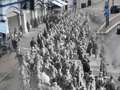 时空穿越:一战场景现身现代街头