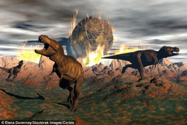 """科学家最新研究表明,0.66亿年前小行星碰撞地球时,正值恐龙生态系统较脆弱时期,遭遇小行星碰撞所致的环境巨变,""""糟糕运气""""的恐龙走向灭绝。"""