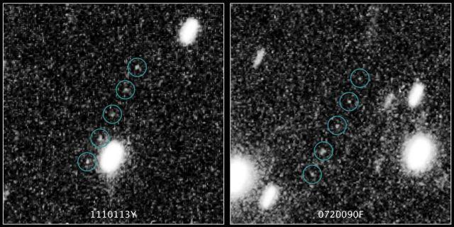 哈勃望远镜在太阳系边缘的柯伊伯带发现两个新的冰冻天体:1110113Y、0720090F