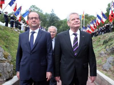 第一次世界大战爆发一百周年 德法两国总统共同纪念