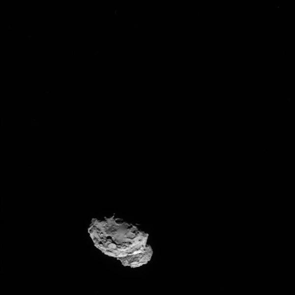 探测船周一摄得目标彗星的外貌