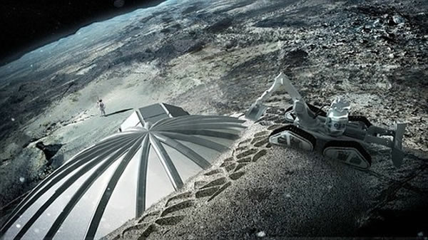 月球基地想象图