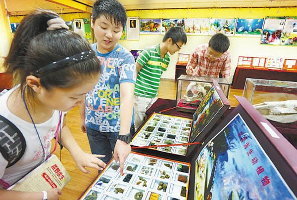 南京举行《探寻大地的奥秘》化石科普展