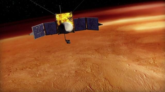 美国NASA火星大气与挥发物演化任务(MAVEN)探测器将进入火星预定轨道