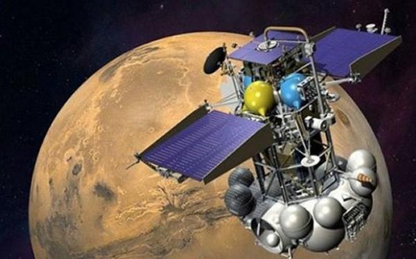 搭载着中国萤火一号探测器的俄罗斯福布斯-土壤探测器。由于火箭故障,这两艘探测器未能进入轨道并最终在大气层中坠毁。