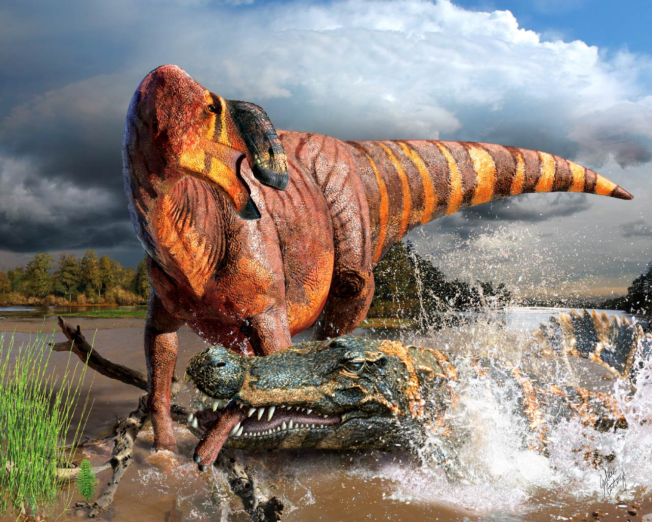美国犹他州中部发现大鼻子恐龙——鼻王龙Rhinorex condrupus