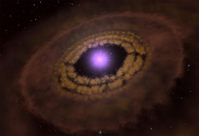 """距离地球176光年处(长蛇座方向)有一个尚处于""""婴儿期""""的恒星系统"""