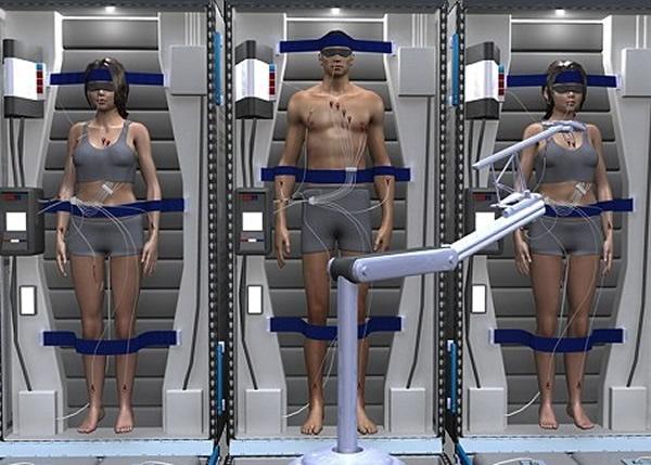科技公司正研究休眠技术用于火星任务的可能性。图为概念图。