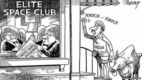 《纽约时报》漫画讽刺印度征火星