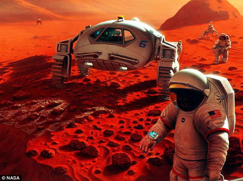图中是宇航员在火星表面执行勘测任务,一旦他们要返回地球,将再次进入休眠模式。虽然这项研究得到了美国宇航局的支持,但是美国宇航局并未确定未来载人太空任务中是否会采