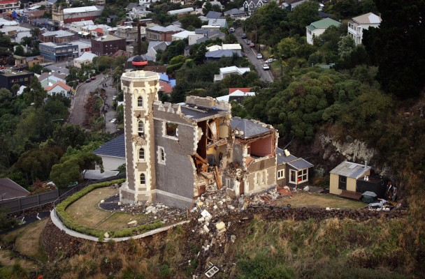 2011年一场大地震,令新西兰南岛的基督城大受破坏。