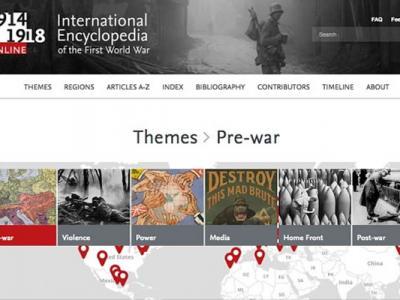 """""""1914—1918在线——国际第一次世界大战百科全书""""网站上线"""