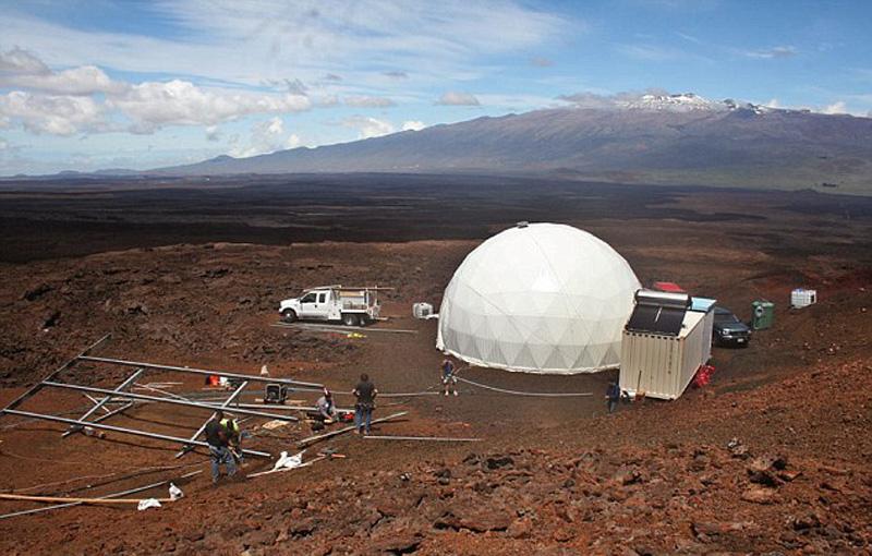 六名志愿者进入位于夏威夷的火星模拟住宅 将在这个封闭空间生活八个月