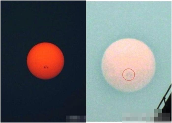 内地网民纷纷表示发现太阳黑子