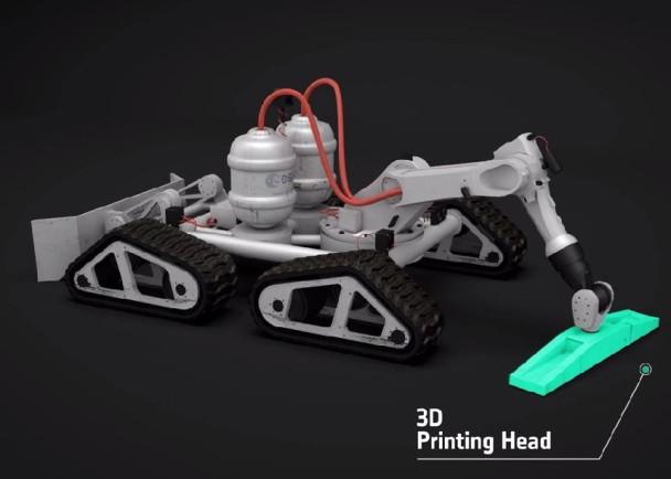 3D打印机械人的构想图。
