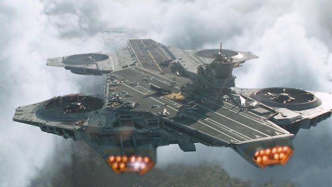 浮空母舰能在半空中释放飞机。