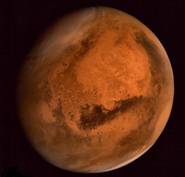 ISRO发放早前印度探测器首次拍得的火星照片。