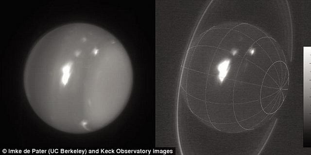 天文学家最新观测到天王星大气层的超级风暴