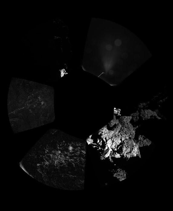 菲兰拍下彗星表面,传返地球。