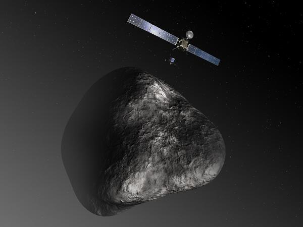 """""""菲莱""""处于休眠状态,但是它的母船""""罗塞塔""""探测器仍在环绕彗星运转"""