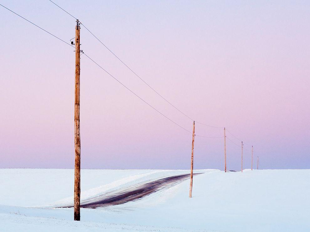 美国威斯康辛州的晨曦雪景
