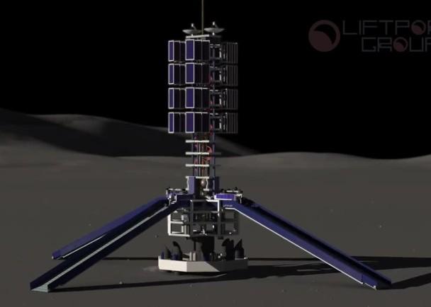 升降机地基登陆月球后,钻头会先后抓紧地面。升降机随后沿缆索下降至月球表面。升降机抵达月面后,充当平台的太阳能板会展开,开始钻探。