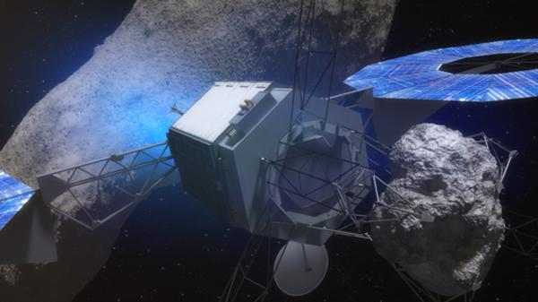 方案B则打算让一艘飞船去往一颗更大的,直径在100~500米之间的小行星,并在其表面获取一小块岩石。
